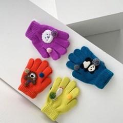 겨울 어린이 스마일 아동 동물 선물 유아 손가락 장갑