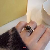 [925실버] 오닉스빅하트 반지