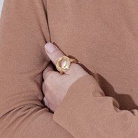 Big Clay Ring - Gold, Silver