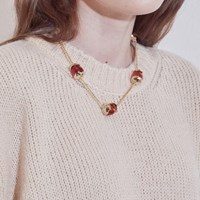 Pumpkin Berry Five Necklace