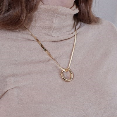 Vintage Ring Necklace - Gold, Silver