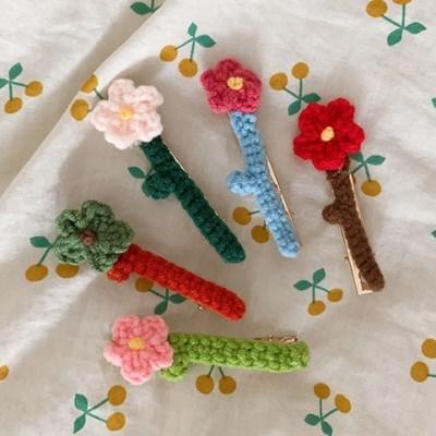 Knitting Flower Pin 니트플라워핀