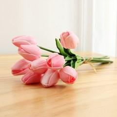 향기나는 튤립 조화 꽃다발 9송이 세트