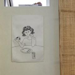 소소한 일상 드로잉 패브릭 포스터 / 가리개 커튼