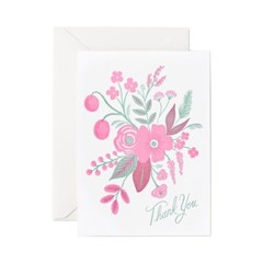 [Rifle Paper Co.] Letterpress Rosy Thank You Card 감_(410643)