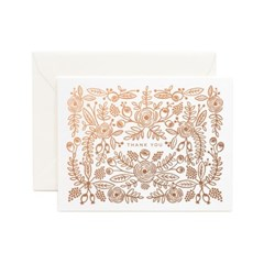 [Rifle Paper Co.] Rose Gold Thank You Card 감사 카드_(410634)