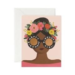 Flower Crown Birthday Girl Card 생일 카드