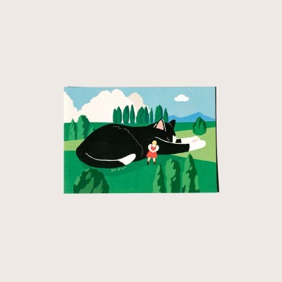 엽서_고양이는 정오의 밤 Postcard_Cat's Night At Noon