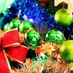 크리스마스 장식볼 오너먼트 5cm 16입 (그린)_(301836170)