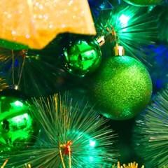 크리스마스 장식볼 오너먼트 6cm 16입 (그린)_(301836169)