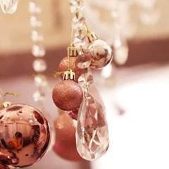 크리스마스 장식볼 오너먼트 3cm 20입 (로즈골드)_(301836165)