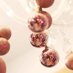 크리스마스 장식볼 오너먼트 5cm 16입 (로즈골드)_(301836162)