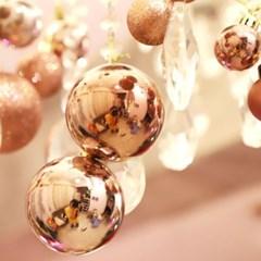 크리스마스 장식볼 오너먼트 8cm 8입 (로즈골드)_(301836158)