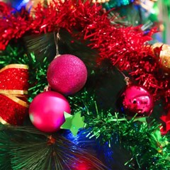 크리스마스 장식볼 오너먼트 5cm 16입 (푸치샤)_(301836154)