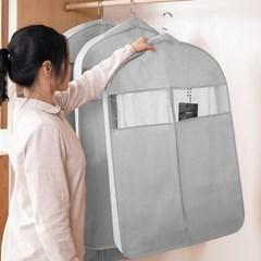 와이드 투명창 의류 옷 코트 양복 커버 덮개 (중)