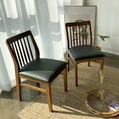 [카르페디]헤라 1인 고무나무 쿠션 원목 식탁의자