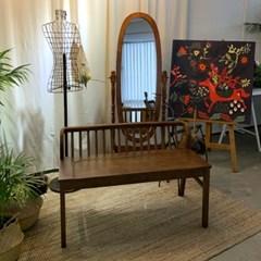 [카르페디]애니 2인 홈카페 인테리어 원목 벤치 의자