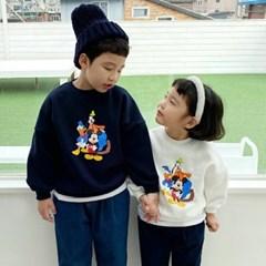 세) [디즈니정품]모여라친구 아동 기모맨투맨-주니어까지