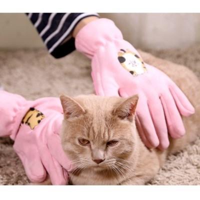 묘심 고양이 강아지 털갈이 매직글러브 털장갑빗 양손 2개