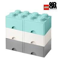 [레고스토리지] 레고정품 8구3단서랍장세트-8S화이트_8S