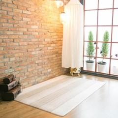 베이메이트 유아 PVC거실매트 모카베이지 머드브라운 210x140cm 14t