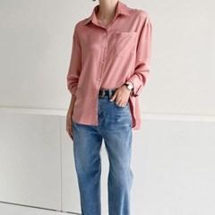 겨울 루즈핏 나그랑 두꺼운 면 셔츠남방 컬러 블라우스