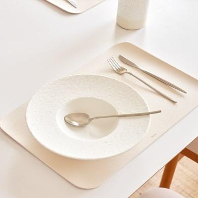 모던 인테리어 사각형 북유럽 가죽 식탁매트 테이블매트_(1394385)