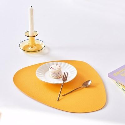 북유럽 식탁 홈인테리어 조약돌 가죽 식탁매트 테이블매_(1394384)