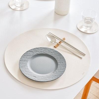 북유럽 식탁 홈인테리어 원형 가죽 식탁매트 테이블매트_(1394383)