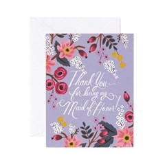 Thank You Maid of Honor Card 웨딩 카드