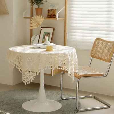 블랑 레이스 뜨개 테이블 커버
