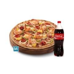 [도미노피자] 치즈케이크블랙타이거 피자 M + 콜라1.25L