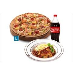 [도미노피자] 치즈케이크블랙타이거 피자 L + 뉴치볼 + 콜라1.25L