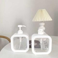 호텔감성 욕실디스펜서 투명용기