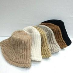 심플 무지 와이어 패션 기본 니트 버킷햇 벙거지 모자