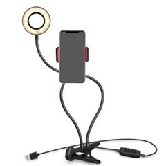 휴대폰 자바라 거치대형 촬영 조명 LED 링 라이트