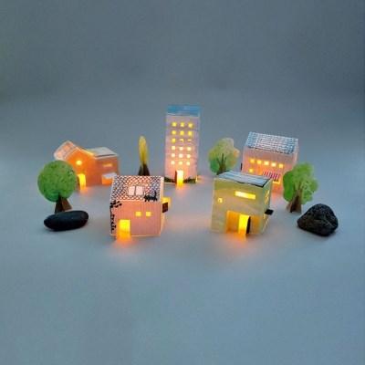 그러자 컬러링타운 종이집 paper + LED양초_(1292949)