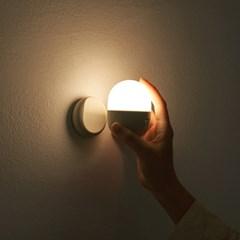 간소 캡슐 모션감지 충전식 무선 LED 센서 조명등_(1446052)