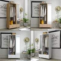 [에띠안]빈센트 800 키높이 전신거울 이동식 행거 옷장 2색상