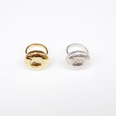 Chubby Button ring - Gold, Silver
