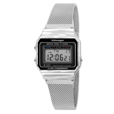 폭스바겐 시계 레트로 디지털 메쉬밴드 손목시계