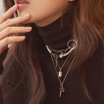 [Silver 925] 바이 락 에버 체인 토글 목걸이