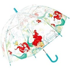 디즈니 인어공주 애리얼 돔타입 비닐 장우산 55cm