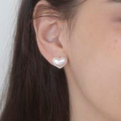 cloud heart pearl earrings 小