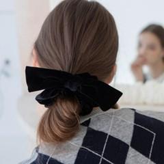 velvet ribbon scrunchie (4colors)