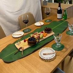 Modern BANANA Leaf 식탁 테이블 매트 109x33cm