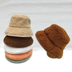 패션 스트릿 무스탕 양털 뽀글이 버킷햇 벙거지 모자
