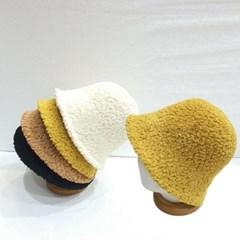 패션 무스탕 뽀글이 양털 후리스 버킷햇 벙거지 모자