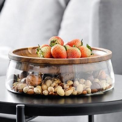 온나 우드 과일 접시 그릇 테이블 다용도 트레이
