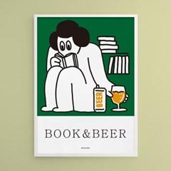책맥 책과 맥주 M 유니크 인테리어 디자인 포스터 카페 식당